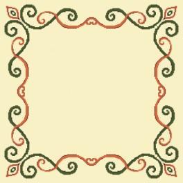 Zestaw z muliną i serwetką - Serwetka z arabeską