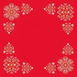 Zestaw z muliną i serwetką - Serwetka - Świąteczne gwiazdki
