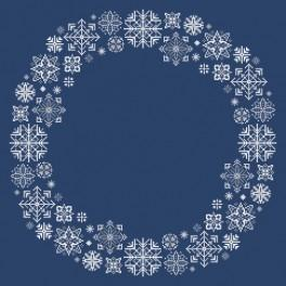 zestaw z muliną i serwetką – Serwetka ze śnieżynkami