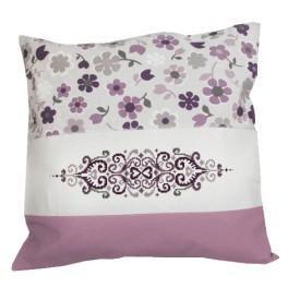Wzór graficzny - Poduszka - Kwiaty z arabeską - Haft krzyżykowy