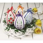 Wzór graficzny - Pisanka z tulipanami - Haft krzyżykowy