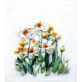 Zestaw wstążeczkowy - Wiosenne kwiaty