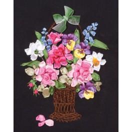 Zestaw wstążeczkowy - Kosz pełen kwiatów