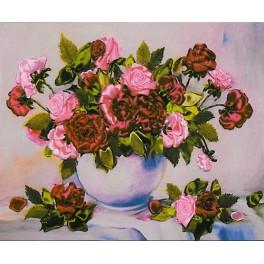 Zestaw wstążeczkowy - Bukiet kwiatów – różowe bzy