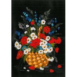 Zestaw wstążeczkowy - Kwiaty w koszu