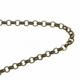 Łańcuszek brąz śr. oczek 3mm