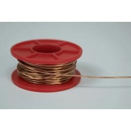 Drut miedziany 1 mm, szpulka 0,1 kg - 14 m