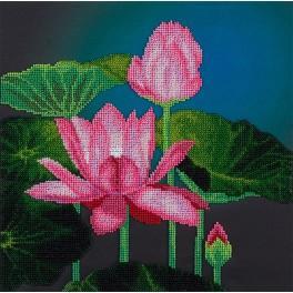 Zestaw z koralikami - Różowy lotos
