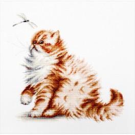 Zestaw z muliną - Kotek z ważką