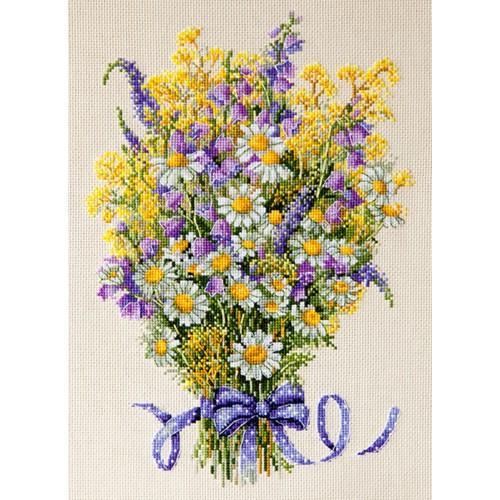 Zestaw z muliną - Letnie kwiaty