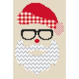 Wzór graficzny online - Kartka - Mikołaj