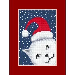 Wzór graficzny online – kartka figlarny kotek