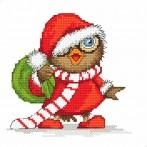 Wzór graficzny online - Świąteczna sówka