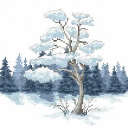 Wzór graficzny online - Zimowa sosna