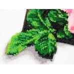 Zestaw z muliną i koralikami - Róże 3D