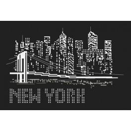 ZI 10084 Zestaw do haftu z muliną i koralikami - Noc w Nowym Jorku