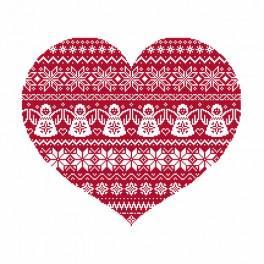 Wzór graficzny online - Skandynawskie serce