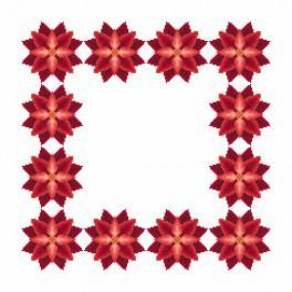 Wzór graficzny - Serwetka - Stylizowana poinsecja I