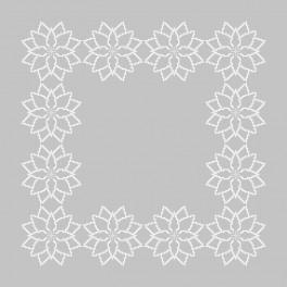 Zestaw z muliną i serwetką - Stylizowana poinsecja II