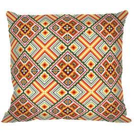 Wzór graficzny – Poduszka - Kolorowe kwadraty