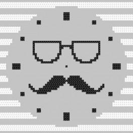 W 8883 Wzór graficzny online - Zegar z wąsami