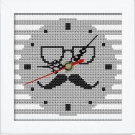 Zestaw z muliną, zegarem i ramką - Zegar z wąsami