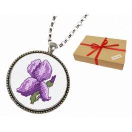 Zestaw prezentowy - Medalion z irysem