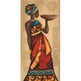ZNT 10073 Zestaw do haftu nadrukiem i podmalowanym tłem - Afrykański wdzięk