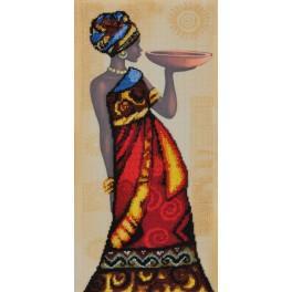 ZKNT 10073 Zestaw z nadrukiem, koralikami i podmalowanym tłem - Afrykański wdzięk
