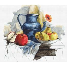 Zestaw z nadrukiem i muliną - Martwa natura z owocami