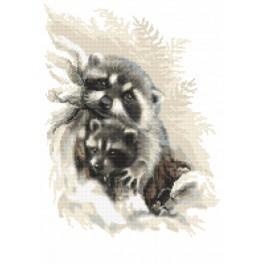 Kanwa z nadrukiem - Kochane szopy