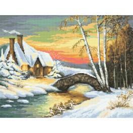 Kanwa z nadrukiem - Zimowy nastrój