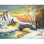 Zestaw z muliną - Zimowy nastrój