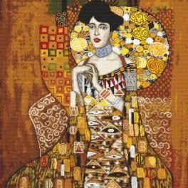 Kanwa z nadrukiem - Portret Adele Bloch-Bauer - G. Klimt