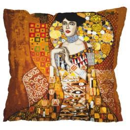 Wzór graficzny – Poduszka - Portret Adele Bloch-Bauer - G. Klimt