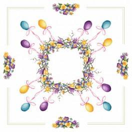 W 8721 Wzór graficzny ONLINE pdf - Obrus - Wielkanocny wianek