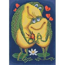 Zestaw z muliną i koralikami - Miłość