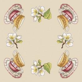 Wzór graficzny - Serwetka z filiżankami