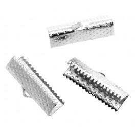 Końcówki krokodylki do bransoletki srebro 20mm