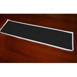 Serwetka z koronką 37x21 cm czarna