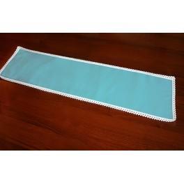 Serwetka z koronką 37x21 cm niebieska