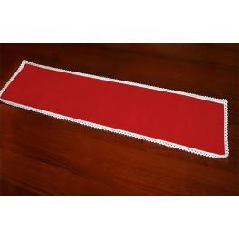 Serwetka z koronką 37x21 cm czerwona