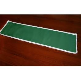 Serwetka z koronką 37x21 cm zielona