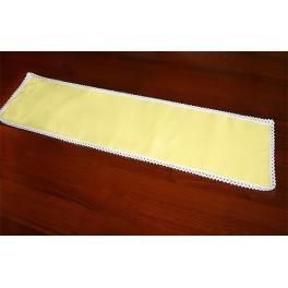 Serwetka z koronką 37x21 cm żółta