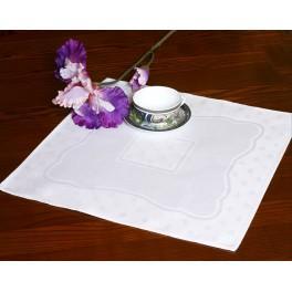 Serwetka z aidową wstawką 42x42 cm biała
