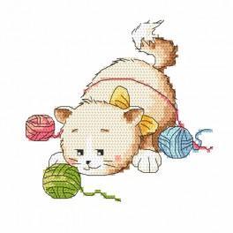 Kanwa z nadrukiem - Kocie figle