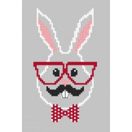 W 8901 Wzór graficzny ONLINE pdf - Kartka - Hipster rabbit boy
