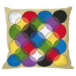 Wzór graficzny – Poduszka - Kalejdoskop barw