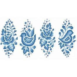 W 8896 Wzór graficzny online - Porcelanowa pisanka