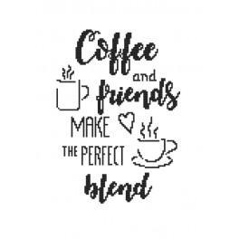 Z 8897 Zestaw do haftu - Coffee and friends